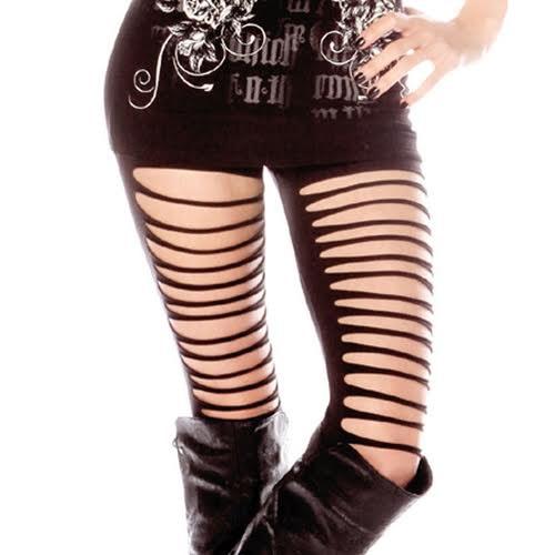 Cut Up Leggings Leggings by Folter