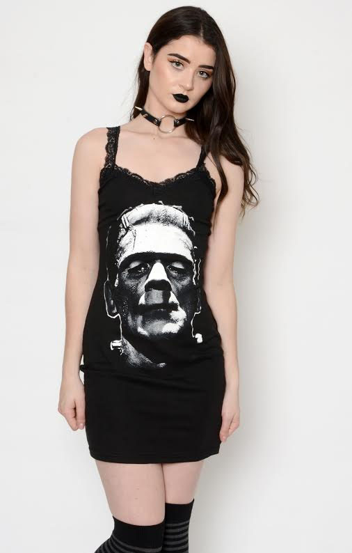 Frankenstein Lace Strap Tank Dress by Vera's Eye Candy