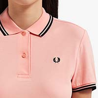 Fred Perry Twin Tipped Girls Polo Shirt- Cherry Blossom (Sale price!)