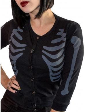 Ribcage Cardigan by Kreepsville 666 - SALE sz L only