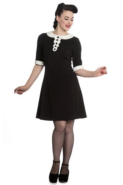 Magpie Mini Dress by Hell Bunny - SALE sz XS, S & M Only