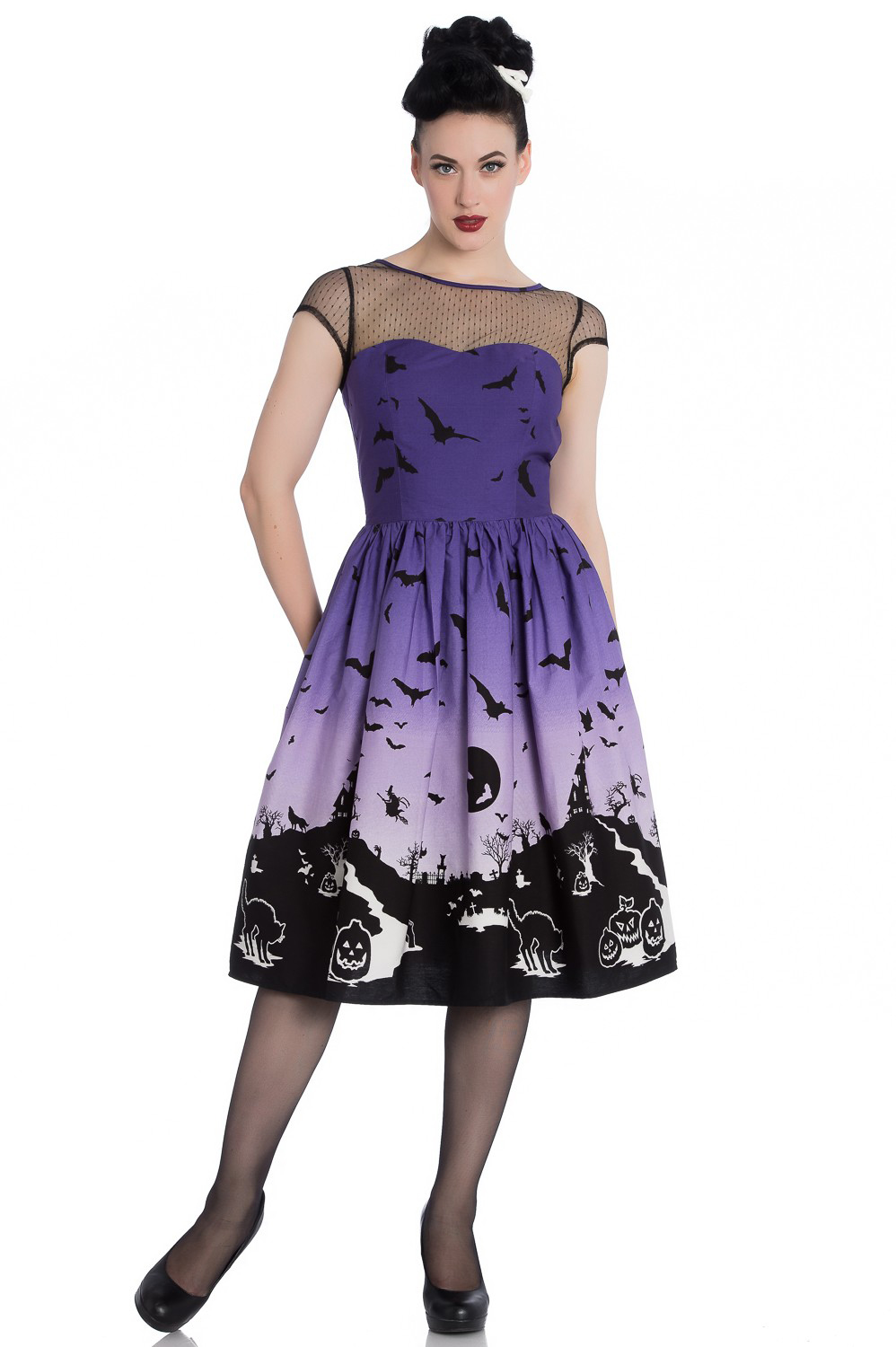 Haunt 50's Halloween Dress by Hell Bunny - SALE sz XS & M only