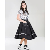 Miss Muffet Spiderweb 50's Skirt by Hell Bunny - Black