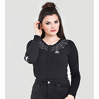 Spider Cardigan by Hell Bunny - Black