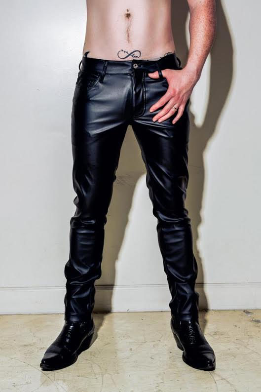Black Vegi-Leather 5 Pocket Classic PVC Jeans by Horse And Horn