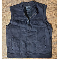 Black Denim Club Vest by I-K Denim