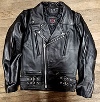British Style Black Leather Jacket