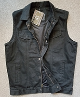 Black Denim Vest by I-K Denim With Zipper & Snaps