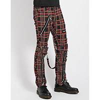 Black Plaid Bondage Pants by Tripp NYC