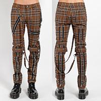 Desert Brown Tartan Plaid Bondage Pants by Tripp NYC