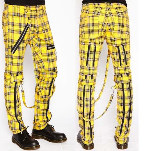 Yellow Tartan Bondage Pants by Tripp NYC