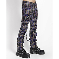 Purple Plaid Bondage Pants by Tripp NYC