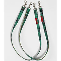 Cotton Bondage Straps by Tripp NYC - Green Plaid