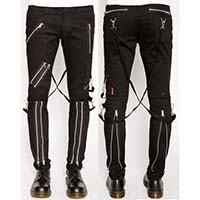 Classic Bondage Pants w Straps by Tripp NYC - black