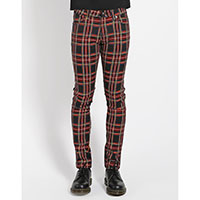 Tripp NYC Rocker Black Plaid Skinny Stretch Jeans