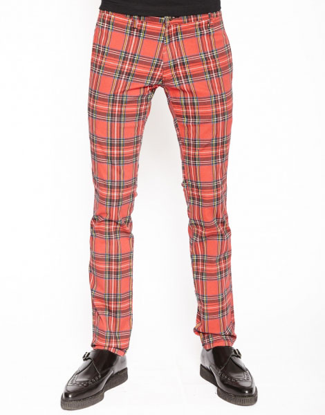 Tripp NYC Top Cat Red Tartan Skinny Stretch Jeans