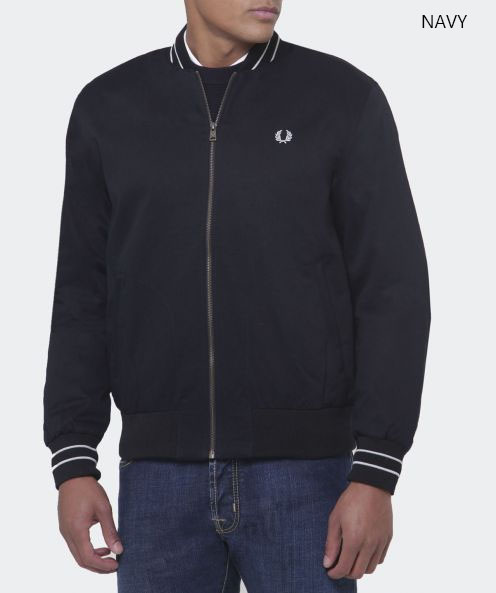 Fred perry black jacket sale