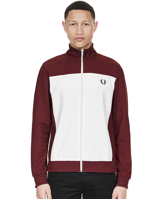 Fred Perry Track Jacket With Logo On Back- Aubergine (Sale price!)