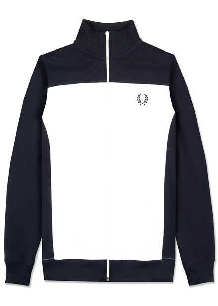 2316eb1c9 Fred Perry Track Jacket With Logo On Back- Navy (Sale price!)