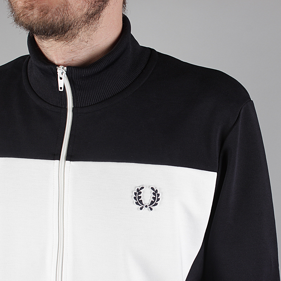 Fred Perry Track Jacket With Logo On Back- Navy (Sale price!)
