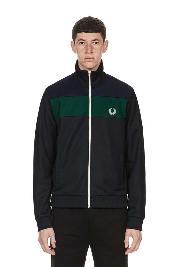Fred Perry Colour Block Track Jacket- Blue Black (Sale price!)