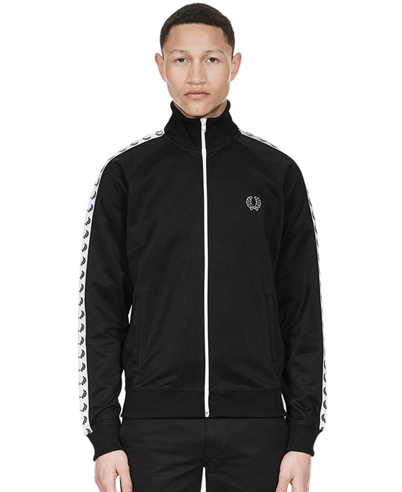 Fred Perry Laurel Track Jacket- BLACK