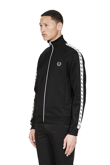 fred perry laurel track jacket black. Black Bedroom Furniture Sets. Home Design Ideas