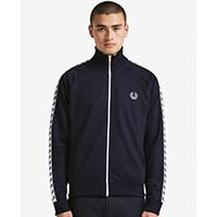 Fred Perry Laurel Track Jacket- CARBON BLUE