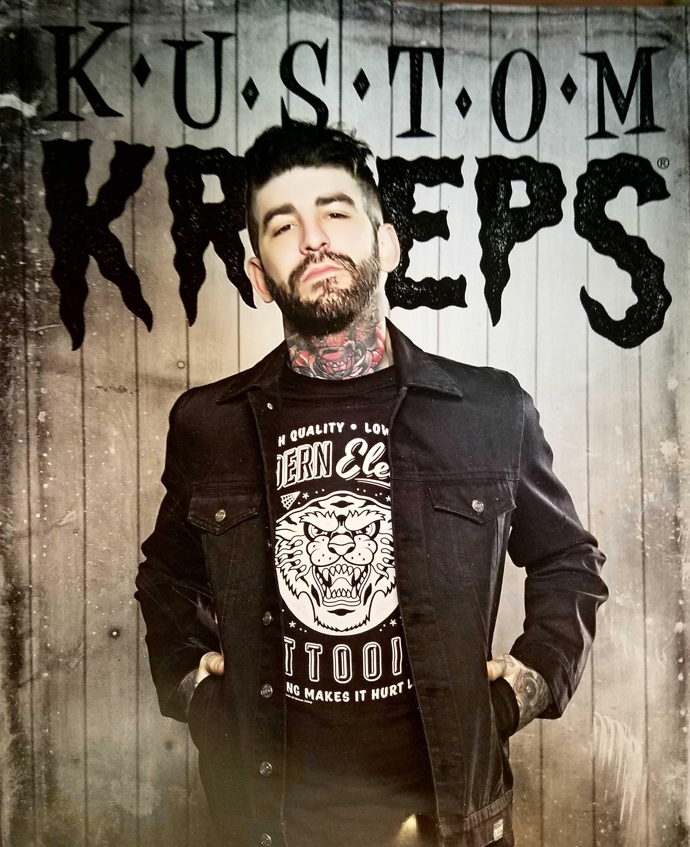 Black Denim Jacket by Kustom Kreeps / Sourpuss