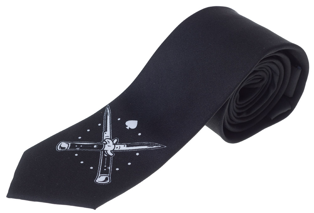 The Switchblades Neck Tie from Kustom Kreeps / Sourpuss - in black
