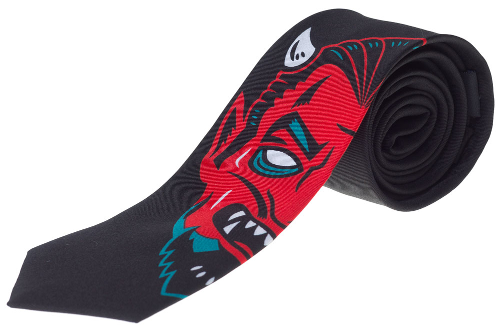Creepy Devil Neck Tie from Kustom Kreeps / Sourpuss - in black