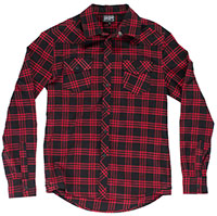 Kustom Kreeps Western Button Up Long Sleeve Guys Shirt by Sourpuss - Red Plaid - SALE
