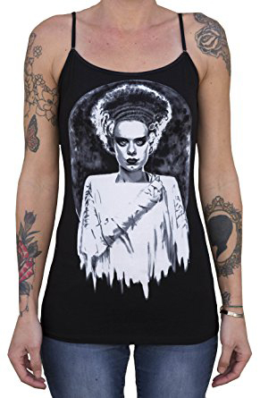 Bride of Frankenstein Tank by Shayne of the Dead & Low Brow Art Company - SALE sz L & XL only