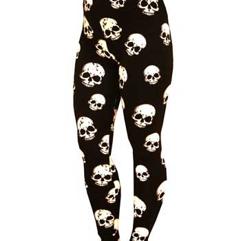 Plus Size Skull Leggings by Banned Apparel