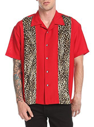 Red Leopard Panel Shirt by Last Call - Steady Clothing