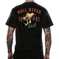 Hell Diver on a black shirt by Lucky 13 Clothing
