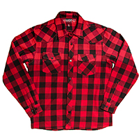 Rincon 100% Cotton Long Sleeve Western Flannel shirt by Lucky 13 - red