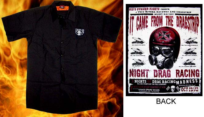 It Came From The Dragstrip Short Sleeve Workshirt by Lucky 13 - SALE sz M only