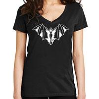 Vampy Women's Deep V Neck shirt by Lucky 13 - on black