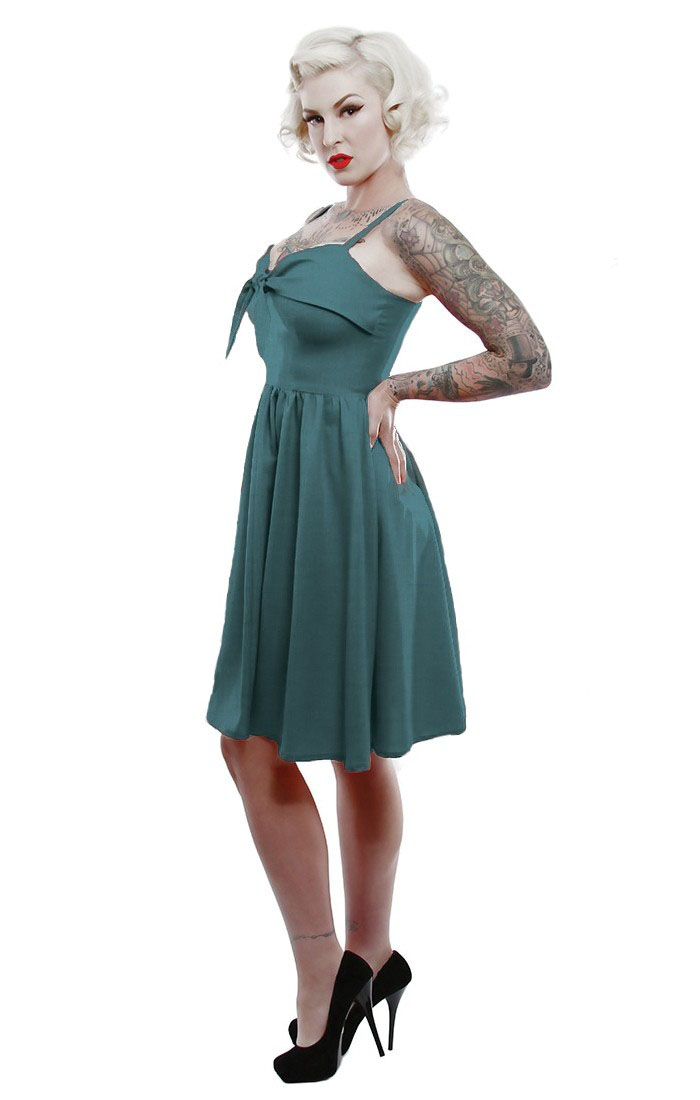 Lucille Swing Dress by Lucky 13 - in Jade