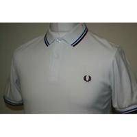 Fred Perry Twin Tipped Polo Shirt- Snow White (Sale price!)