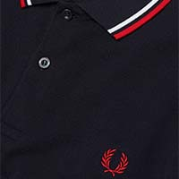 Fred Perry Polo Shirt- Navy / White / Red (Sale price!)