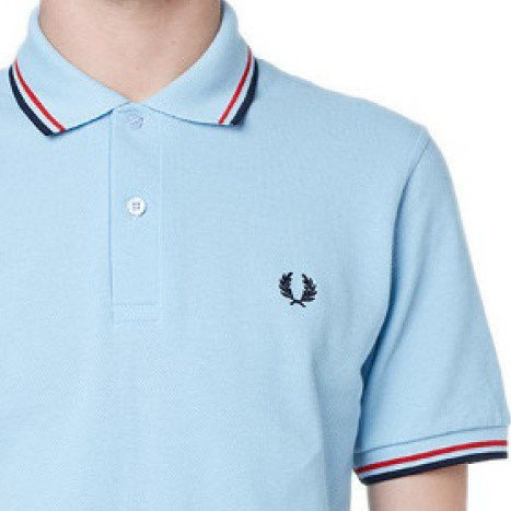 Fred Perry Laurel Collection Twin Tipped Polo Shirt- ICE (Made In England!)