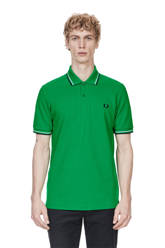 a4467fbf Fred Perry Laurel Collection Twin Tipped Polo Shirt- ISLAND GREEN ...