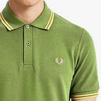 Fred Perry Laurel Collection Twin Tipped Polo Shirt- 1964 Olive / Gold (Made In England!)