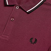 Fred Perry Polo Shirt- Mahogany / White / Black (Sale price!)