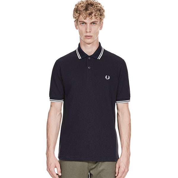 Fred Perry Polo Shirt- Navy / White