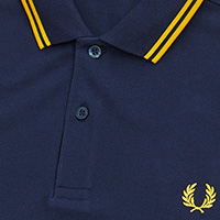 Fred Perry Polo Shirt- Carbon Blue / Sunburst
