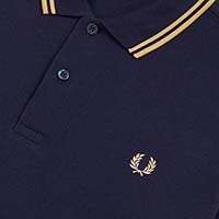 Fred Perry Polo Shirt- Carbon Blue / Champagne