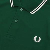 Fred Perry Polo Shirt- Ivy / Snow White (Sale price!)